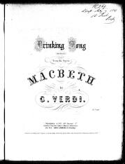 Drinking song from the opera Macbeth