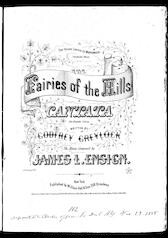 The  fairies of the hills, a cantata