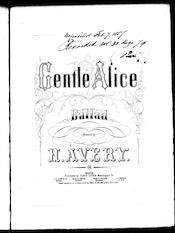 Gentle Alice, ballad