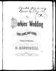 The  darkies' wedding, or, Ding dong, skip along