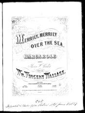 Merrily, merrily over the sea, barcarole