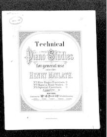 Technical piano studies