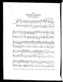 No.3. Pleyel's Duetts - A minor, Violin and Piano