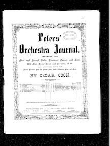 Flash galop(Peters' Orchestra Journal)