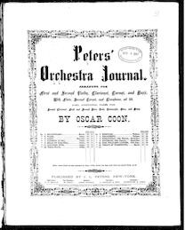 Sensational quadrilles (Peters' Orchestra Journal)