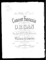 Concert fantasia for the organ in the freestyle