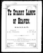 Ye starry lamps of heaven