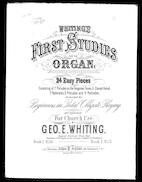 Whiting's first studies for the organ