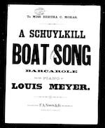 A  Schuylkill boat song