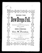 When the dew-drops fell