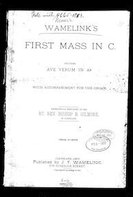 First mass in C