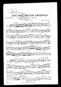 New York Theatre Orchestra; Melodramatic music, series IV