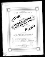 Four impromptus for piano