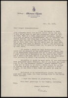 Letter from Aaron Copland to Serge Koussevitzky, October 18, 1939.