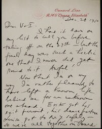 Letter from Aaron Copland to Irving and Verna Fine, December 28, 1950.