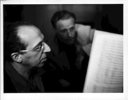Aaron Copland with Irving Fine, 1950s