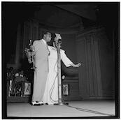 [Portrait of Louis Armstrong and Velma Middleton, Carnegie Hall, New York, N.Y., ca. Feb. 1947]