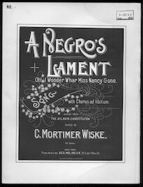 A  negro's lament song