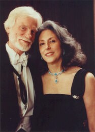 [ Gerry and Franca Mulligan at Avery Fisher Hall, 1989]