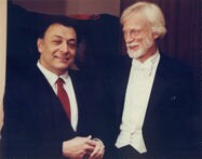 [ Gerry Mulligan and Zubin Mehta at Lincoln Center - 1989]