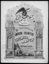 American volunteer's grand triumphal march