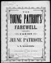 The  young patriot's farewell