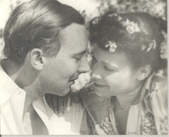 Katherine Dunham and her husband, John Pratt in an undated photograph
