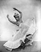 Katherine Dunham in the ballet L'Ag'Ya, which premiered in 1938