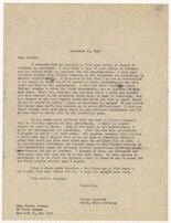 [ Letter from Harold Spivacke to Martha Graham, September 8, 1946]