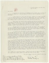 [ Letter from Martha Graham to Aaron Copland, May 16, 1943]