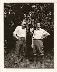 Carl Engel, chief of the Music Division, Library of Congress, and Ernest Bloch in Peterborough, New Hampshire