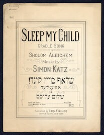 Sleep, my child Cradle song