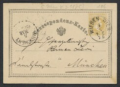 [Postcard, 1875 March 4], Wien [to] Herman[n] Levi