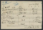 [Note, written on a piece of music paper, 1889 to] Bob. Keller