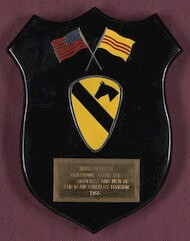[ Plaque from the 1st Air Cavalry Division to Danny Kaye, 1966]