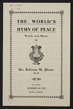 The  world's hymn of peace op. 36