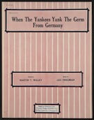 When the yankees yank the germ from Germany