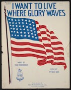 I want to live where glory waves