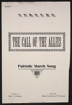 The  call of the allies patriotic march song