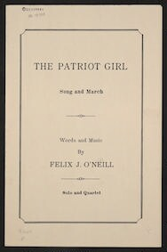 The  patriot girl song and march : solo and quartet