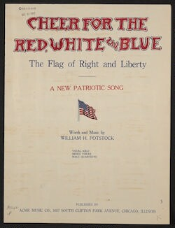 Cheer for the red, white, and blue A new patriotic song