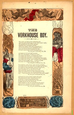 The vorkhouse boy. H. De Marsan. Dealer in songs, .. No. 60 Chatham Street, N. Y
