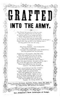 Grafted into the army. Johnson's new catalogue of songs