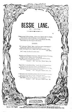 Bessie Lane. Air: Nelly Gray. H. De Marsan, Publisher, ... 38 Chatham Street N. Y. [c. 1860]