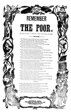 Remember the poor. H. De Marsan, Publisher, 38 & 60 Chatham Street, N. Y