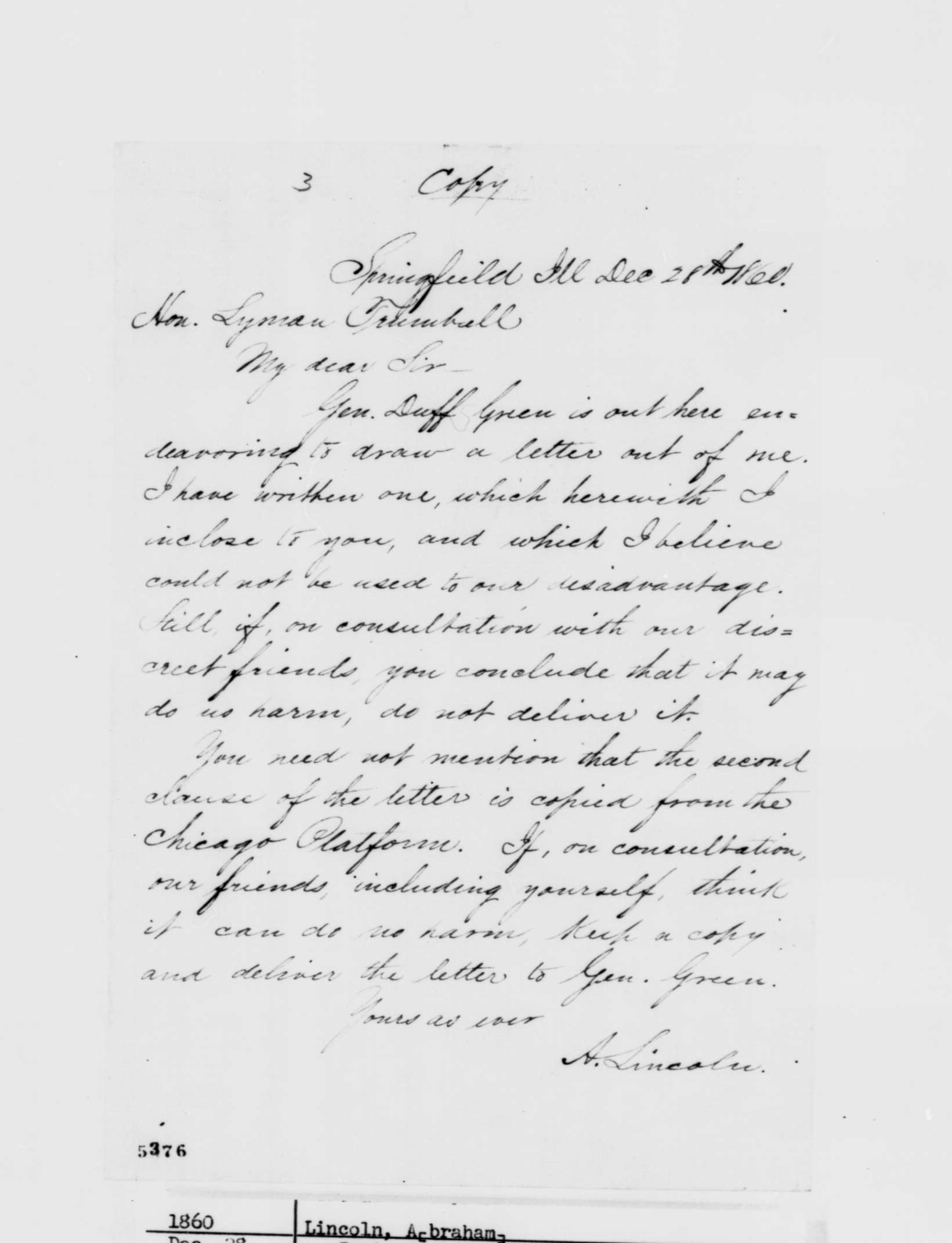 Phillip W. Magness » Abraham Lincoln and the Corwin Amendment