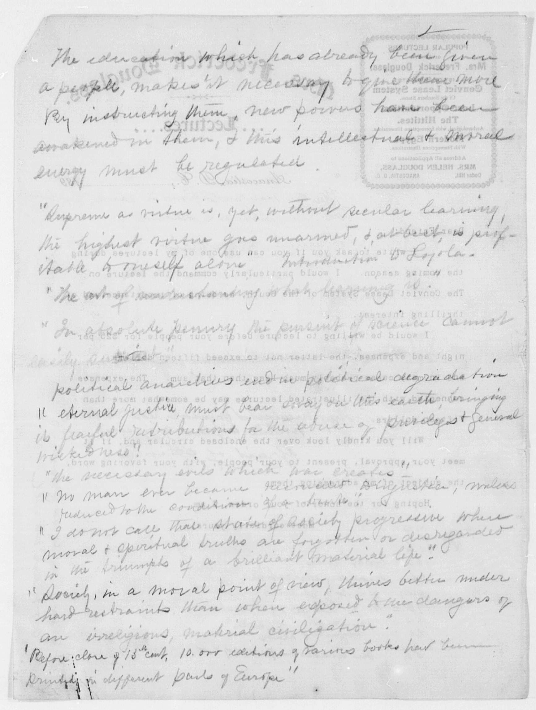 frederick douglass essay Narrative of the life of frederick douglass, an american slave: written by himself study guide contains a biography of frederick douglass, literature essays, a.