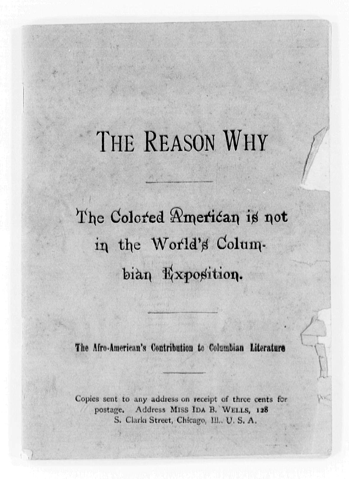 the reason why the colored american is not in the world u0026 39 s