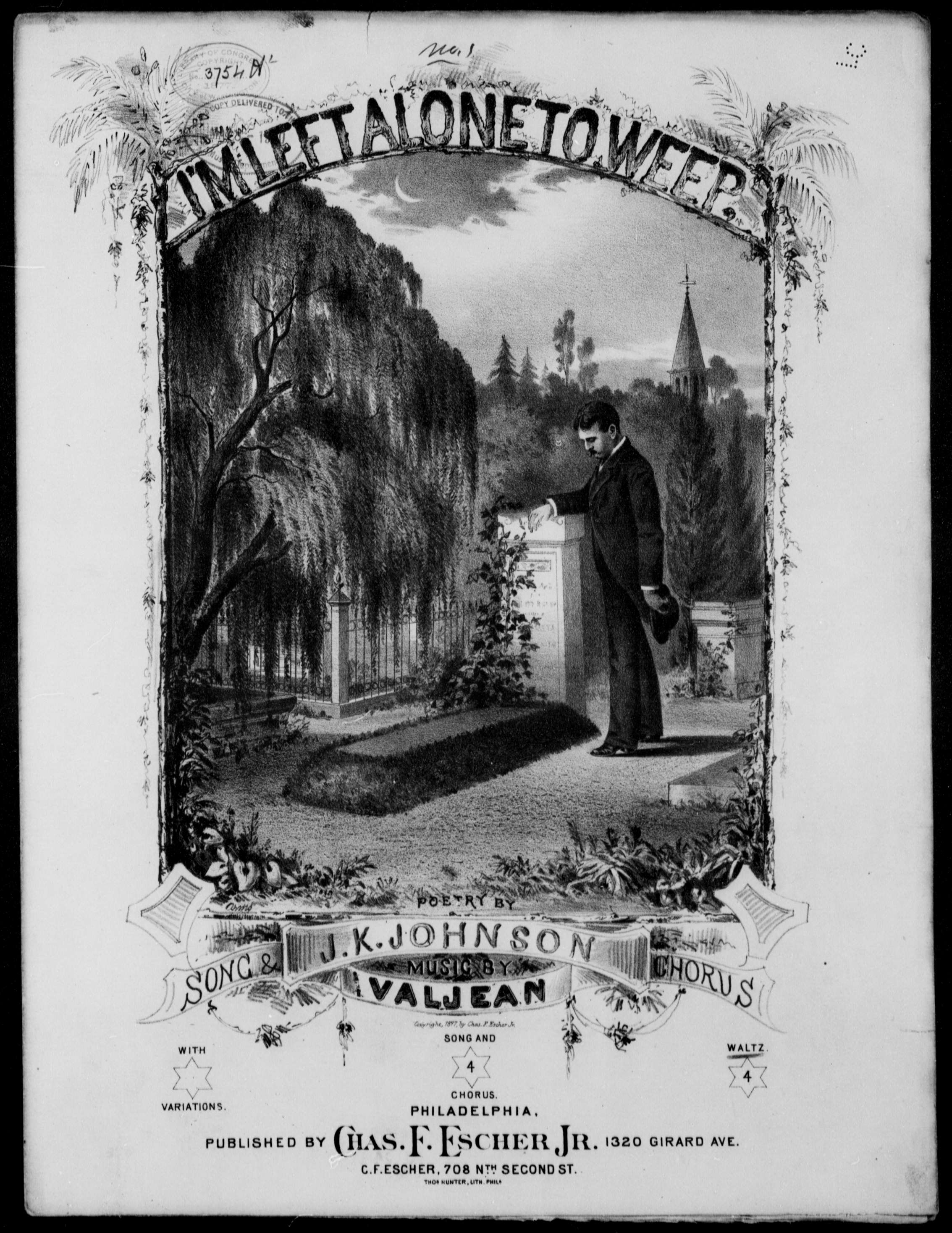 I'm left alone to weep waltz | Library of Congress