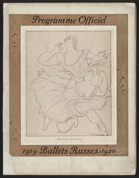 Programme Officiel--1919-1920 Ballets Russes [concert program].